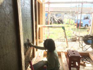 鳥羽の土壁の家⑧ 土壁を付ける