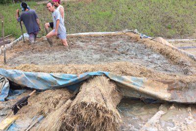 伊賀の石場建ての家(3)まず土を寝かす